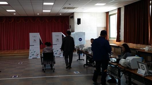 사전 투표소 4.13 총선 당시 여수의 한 사전투표소