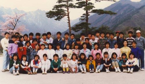 이대부고 2-5반 수학여행(1988. 9. 설악산소공원)