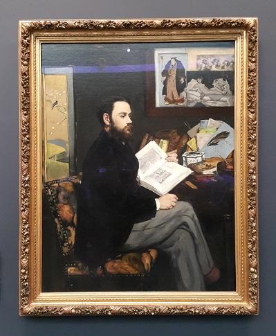 에두아르 마네, <에밀 졸라의 초상>(1868), 오르세 미술관