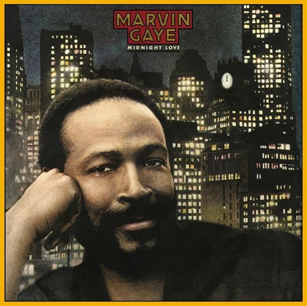 초기 808 사운드를 적극적으로 활용했던 'Sexual Healing'이 수록된 마빈 게이의 대표 음반 < Midnight Love >의 표지 이미지.