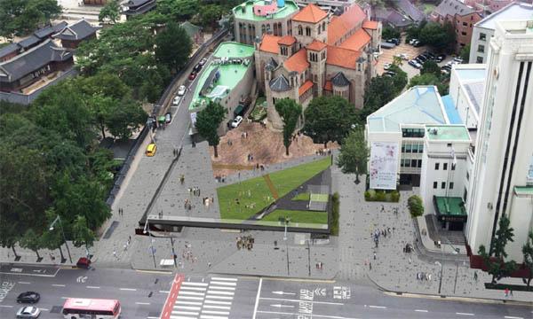 옛 국세청별관 자리에 조성될 시민광장 조감도.