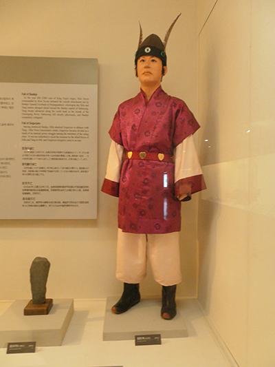 서울시 용산구의 전쟁기념관에서 찍은 신라 화랑.