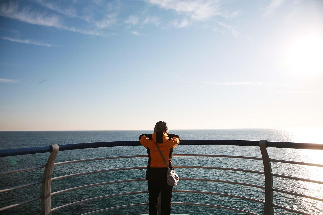 바다전망대 심곡항에서 바다부채길 입구로 오르면 바다전망대가 있습니다. 심곡항과 헌화로, 동해바다를 시원스레 조망할 수 있습니다.