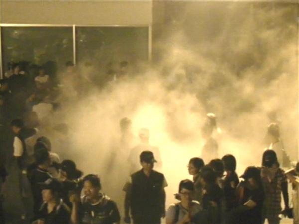 2010년 불법용역투입, 구조고도화 반대 파업 현장(출처 손잡고)