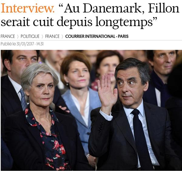 """현 프랑스 정가에 스캔들을 일으키고 있는 프랑소와 피용 커플에 대한 현지 언론의 보도 """"덴마크였다면 피용은 이미 끝났다"""""""