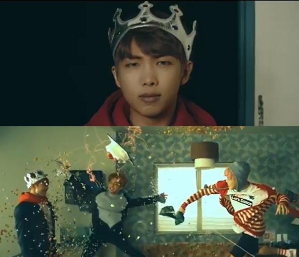 방탄소년단의 '봄날' 뮤직비디오 이미지.