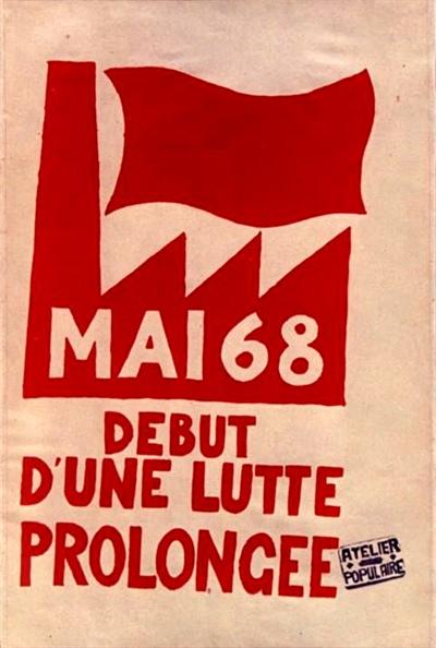 68혁명 일러스트 - 프랑스 68혁명을 상징하는 일러스트 포스터. '금지하는 것을 금지하라'는 프랑스 68혁명의 대표적인 슬로건이다.