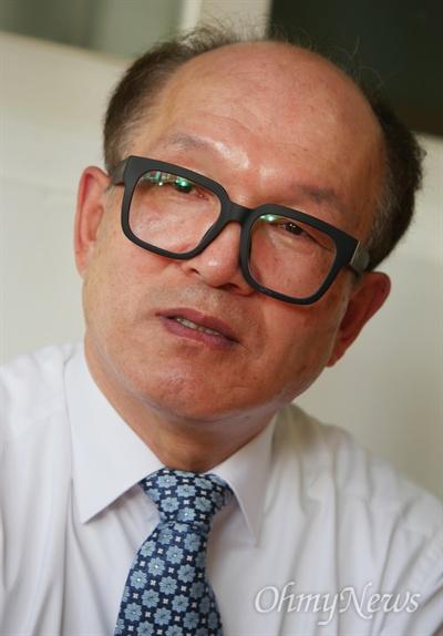 오마이뉴스와 인터뷰하는 박채서씨