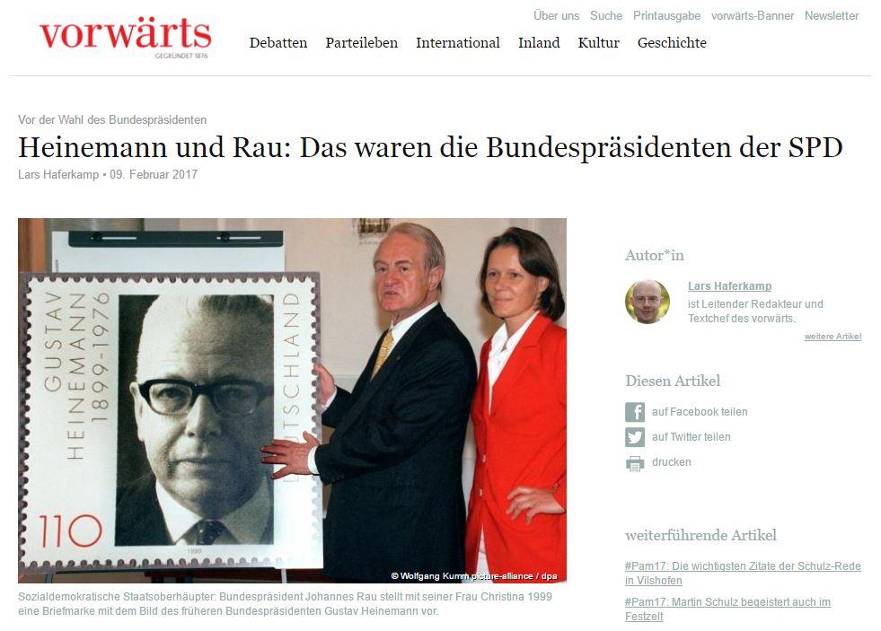 Vorwaets 화면캡처 독일 제 3대 대통령 구스타프 하이네만을 기리는 우표를 설명하는 모습