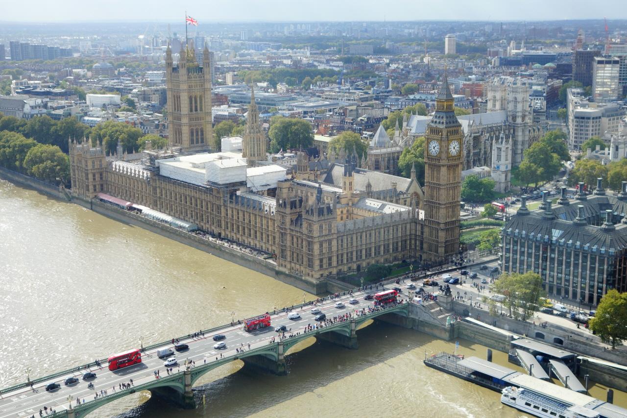 영국 국회의사당.