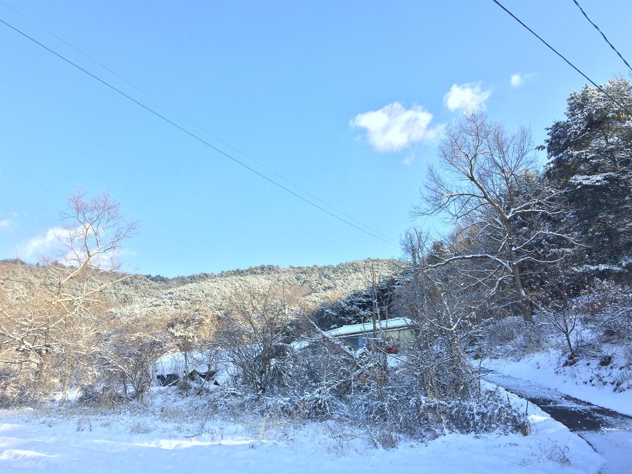 겨울 산골총각네 집 겨울 산골 시골집 풍경