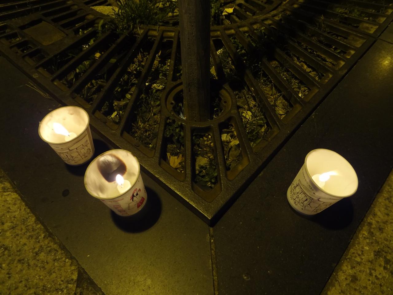 3개의 촛불들 ....