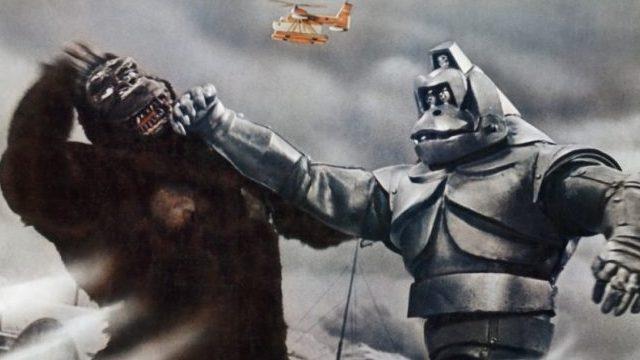 로봇콩과 싸우는 킹콩. 일본에서 제작된 마지막 <킹콩> 시리즈이다.