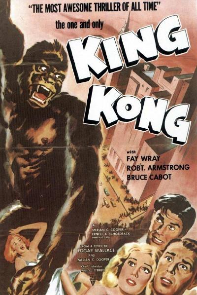 1933년작 <킹콩> 포스터. 1세기의 역사가 여기서 시작됐다.