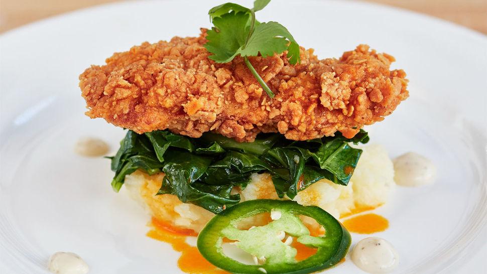 인공 닭고기로 만든 프라이드 치킨