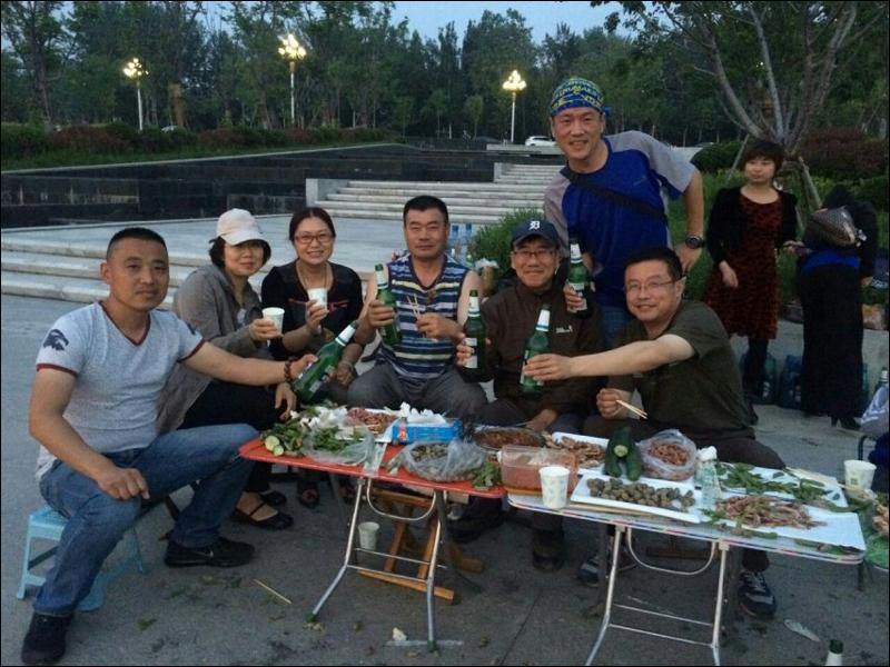중국친구와 야외에서 양꼬치 파티