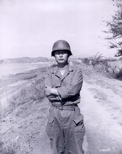 한국전쟁 때의 백선엽.