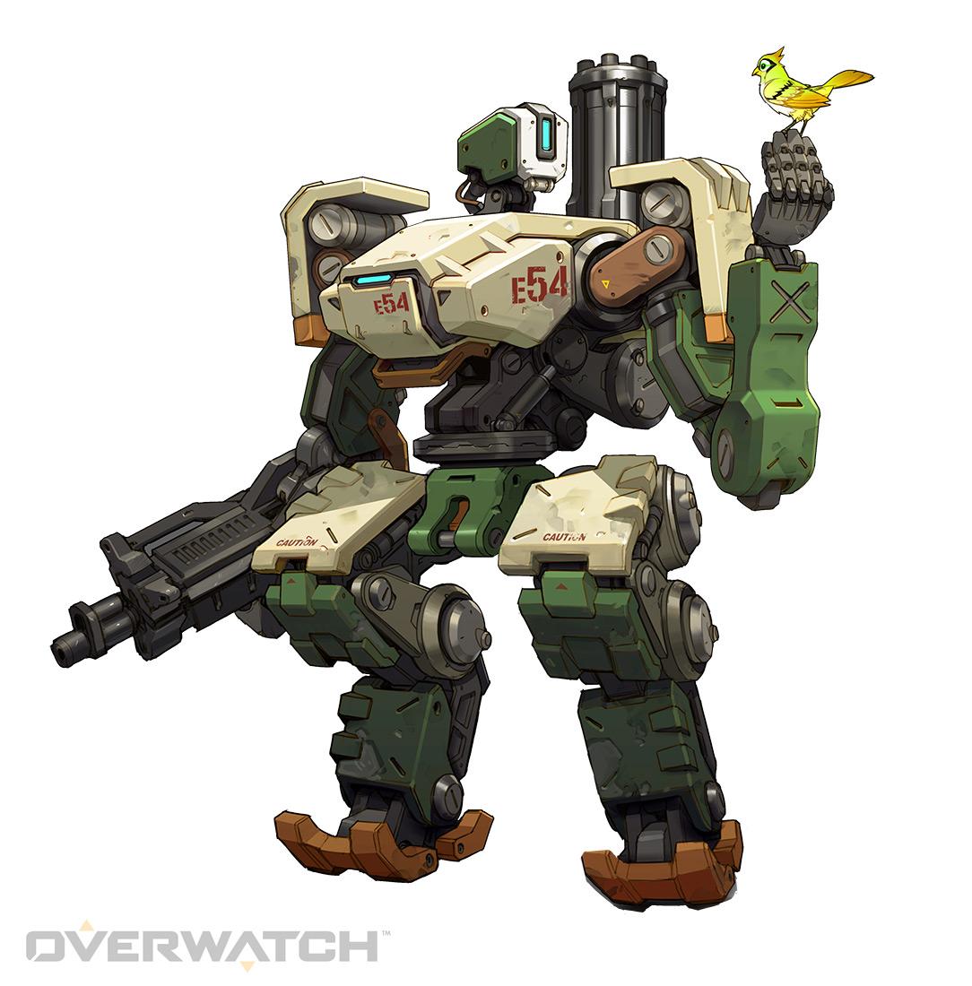 오버워치의 인고지능 로봇(옴닉) 캐릭터 바스티온.