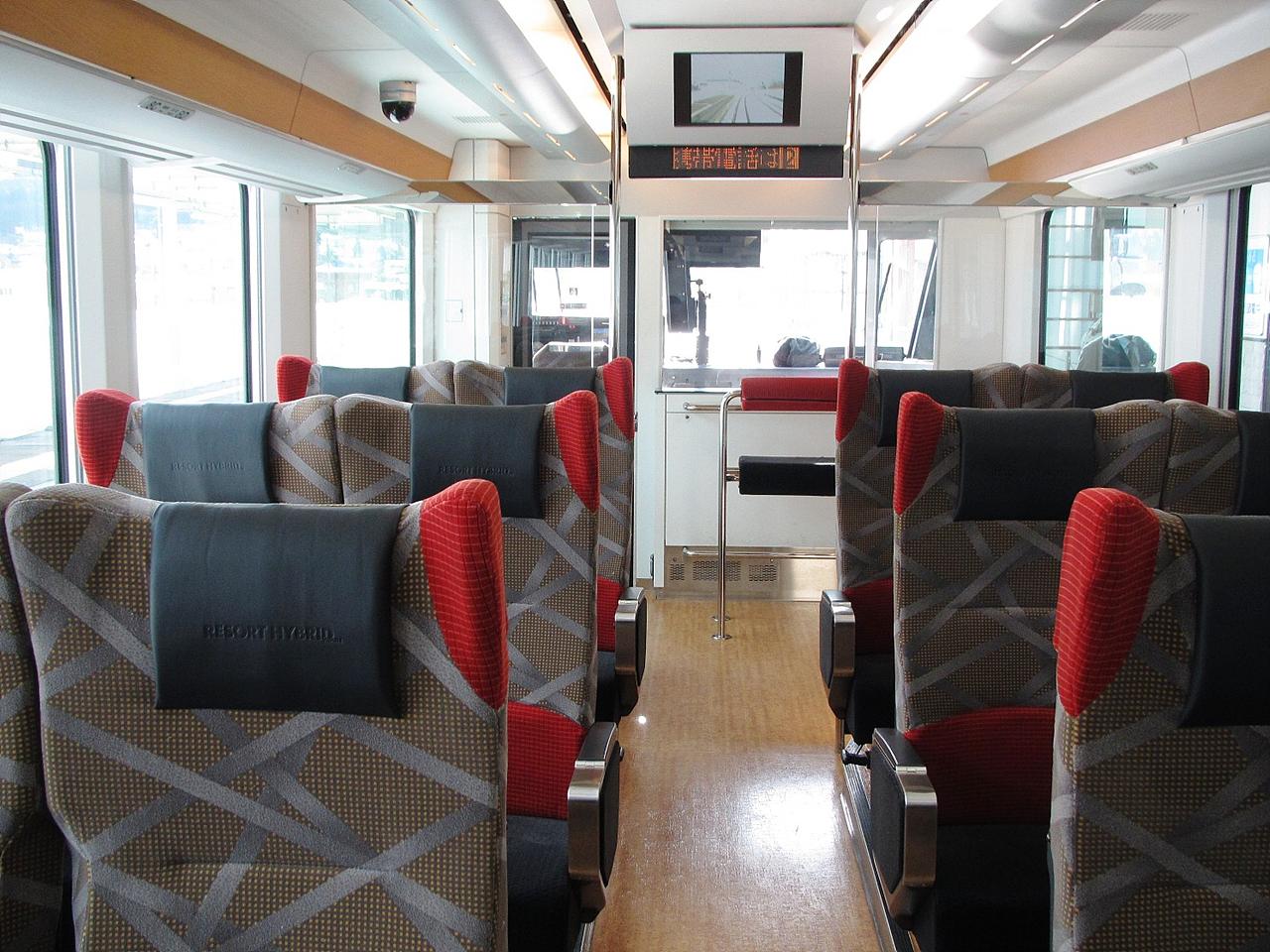 리조트아스나로시모키타호 하이브리드 관광열차  리조트아스나로시모키타호내부