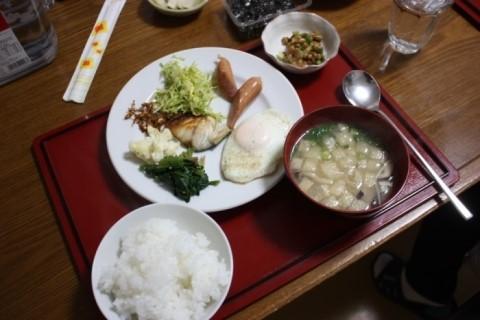 일본 쓰시마 간단한 아침 식사