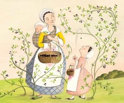 속그림. 1710년대이든 2010년대이든 앞으로든, 이 그림처럼 즐거이 들마실을 하며 들딸기를 훑는 즐거움을 누릴 수 있기를 비는 마음입니다.