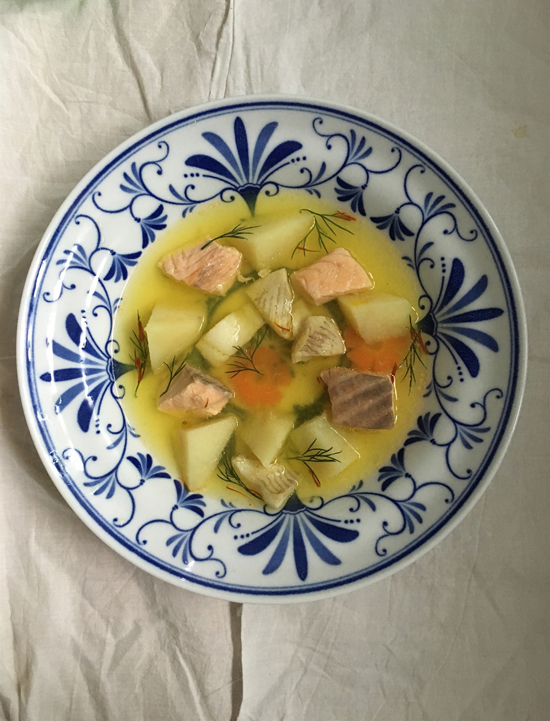 러시아식 생선 수프 우하(Ukha)
