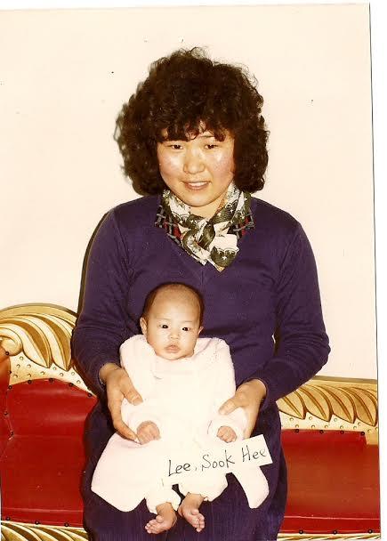 1984년 입양보내지기전 아기 이숙희