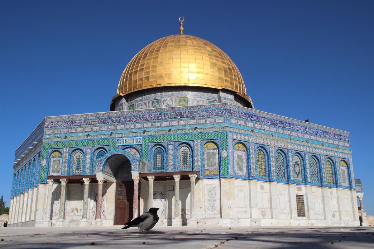 무함마드가 승천한 곳으로 알려진 예루살렘 바위돔 사원