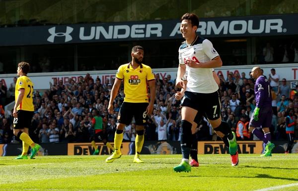 지난 4월 8일 잉글랜드 피리미어리그 토트넘 홋스퍼와 왓퍼드의 경기에서 손흥민이 2골 1도움을 기록하는 대활약을 펼쳤다.
