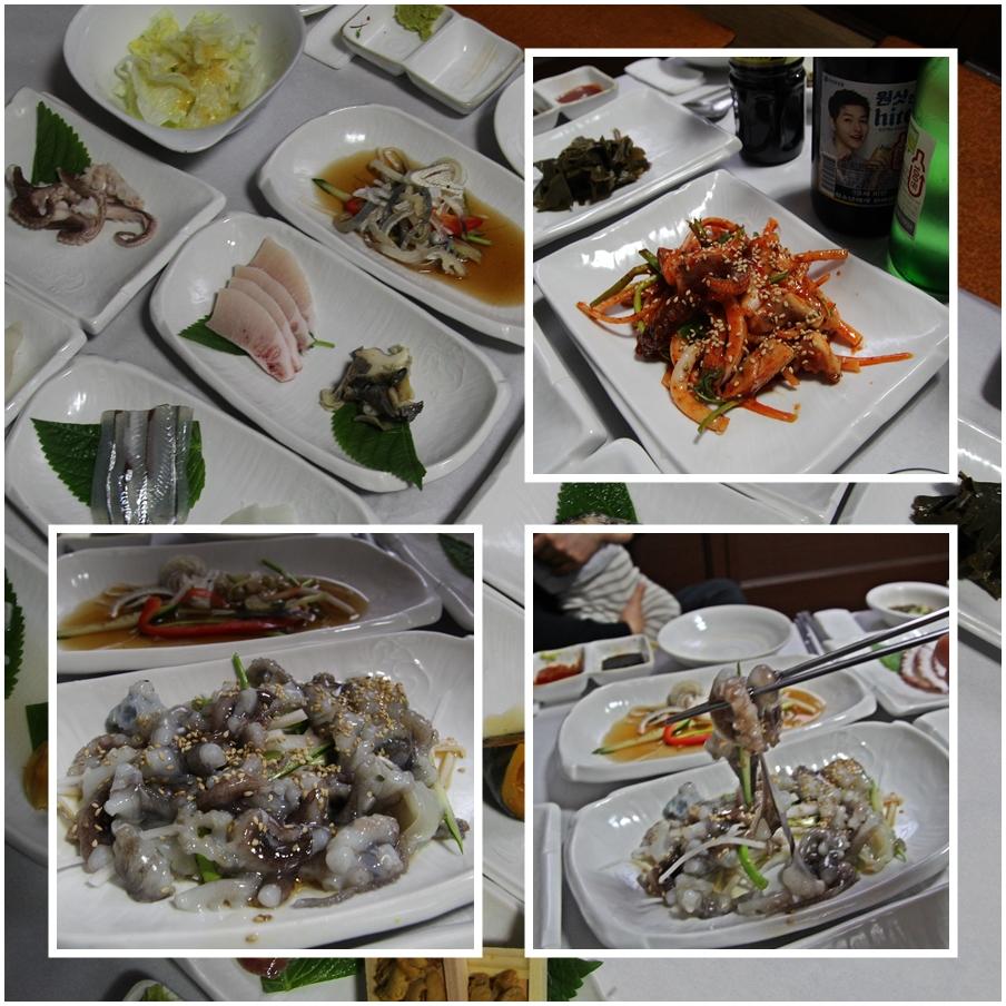 상차림이 실속 있다. 멍게젓갈, 초밥, 복껍데기 무침, 학꽁치, 갑오징어 등 다양한 해산물을 선보인다.