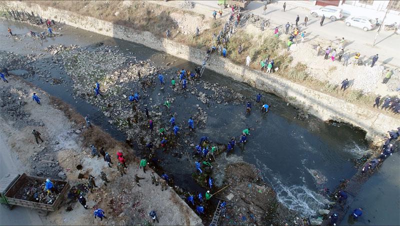 드론으로 촬영한 네팔 현지의 모습