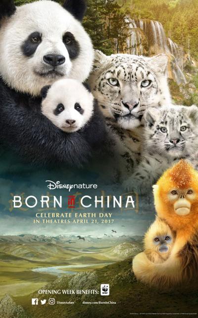 영화 <본 인 차이나> 포스터. 지구의 날을 맞아 깜짝 개봉했다. 성적도 나쁘지 않다.