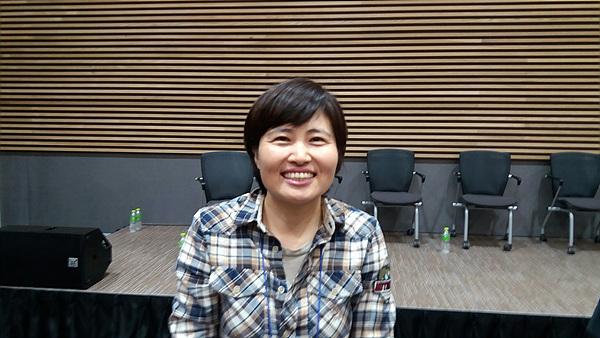 다큐영화, <소안의 노래>를 만든 김경자 감독 모습