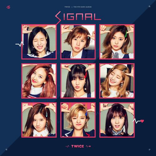 트와이스의 4번째 EP ` Signal` 표지