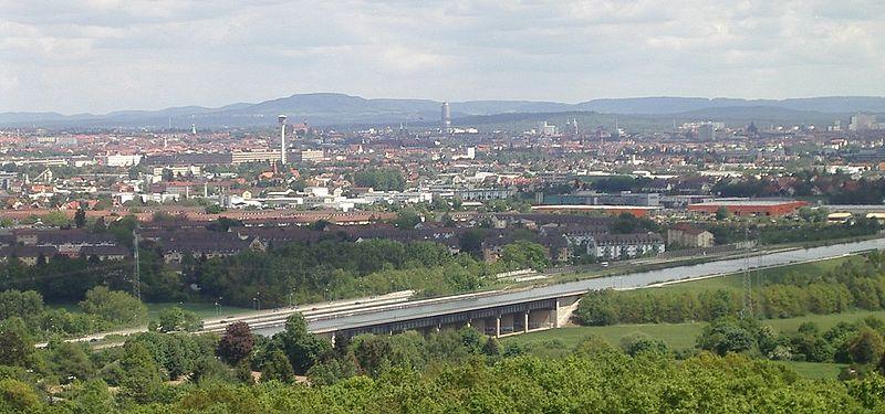 독일 뉘른베르크를 지나는 RMD 운하.