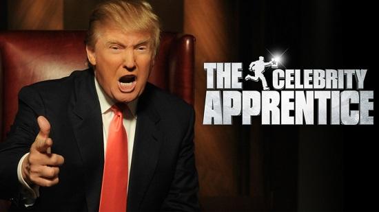 NBC에서 방송된 리얼리티 TV쇼 '어프렌티스'는 트럼프를 전국적인 스타로 만들었다.