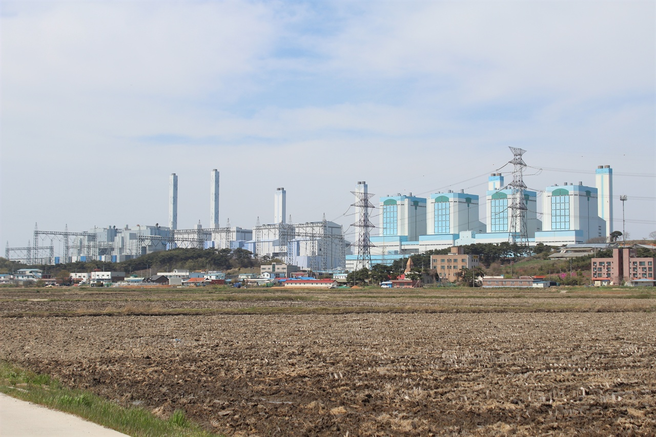 당진석탄화력발전소 당진시 석문면 교로리 위치