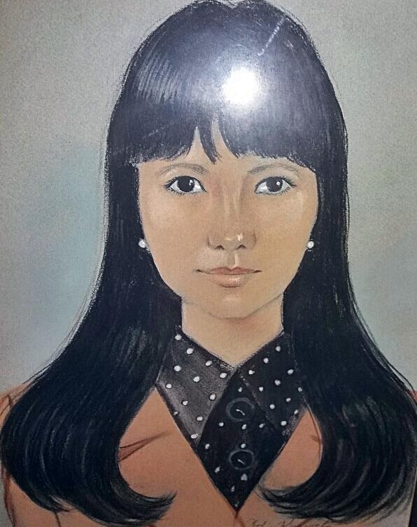 박빈자 씨의 젊은 시절 모습. 사진을 그림으로 옮겨 놓은 것이다.