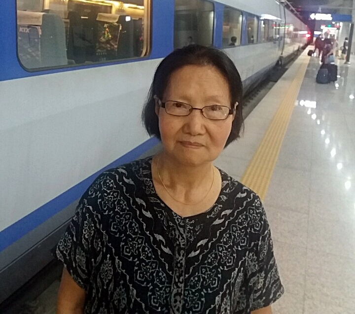 작년 9월 한국에 왔을 때 모습. 자식을 찾고 싶은 것이 생의 마지막 소원이라는 박빈자 씨.