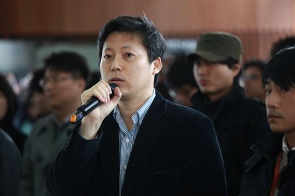 지난해 MBC 파업 당시 이용마 기자