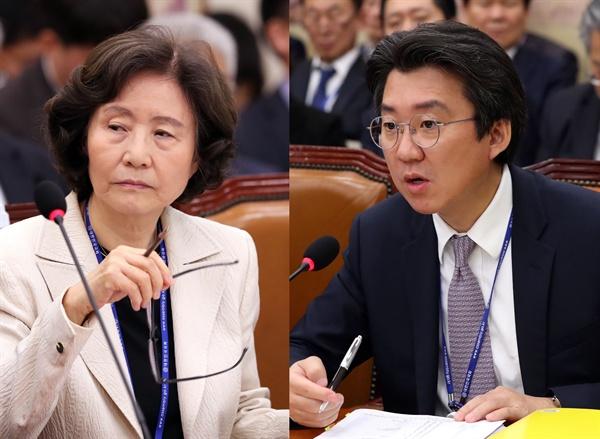 박명진 전 한국문화예술위원회 위원장(왼쪽), 김세훈 영화진흥위원회 위원장