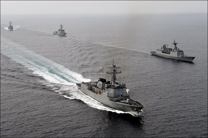 지난해 동해상에서 실시된 한·미 합동훈련 장면.(사진=대한민국 해군)