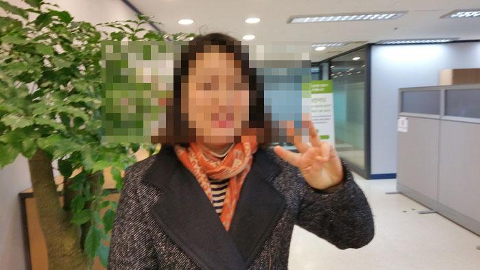 지난해 4.13 총선에서 출마를 선언한 직후 국민의당 당사에서 <신문고뉴스> 임두만 편집위원장과 인터뷰에 응한 이유미씨