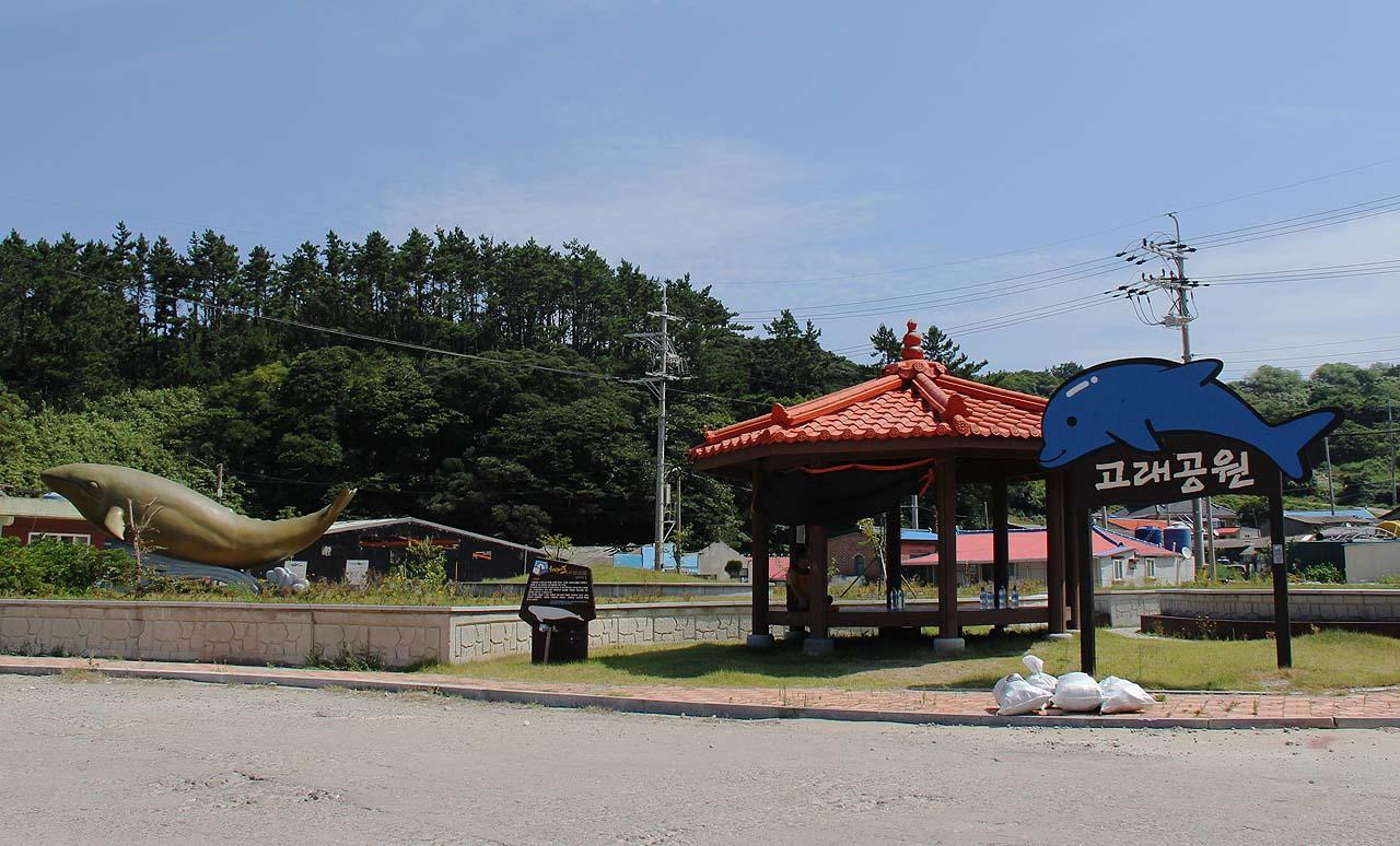 전남 신안군 흑산도 예리에 있는 고래공원.