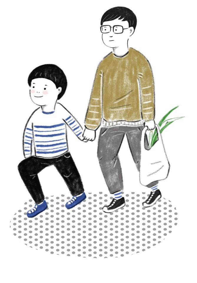제규와 꽃차남은 '의좋은 형제' <소년의 레시피>에는 실물 사진 대신에 일러스트가 들어갔다. 그림 속 아이들은 정말로 '의좋은 형제'처럼 보였다.