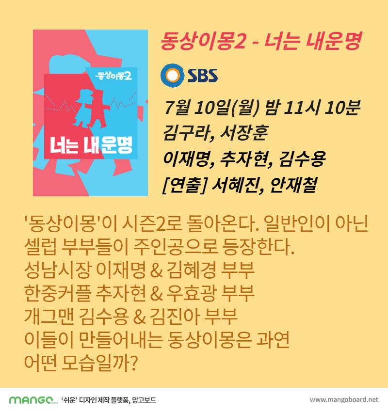 동상이몽2 - 너는 내운명 SBS 동상이몽 - 너는 내운명 소개