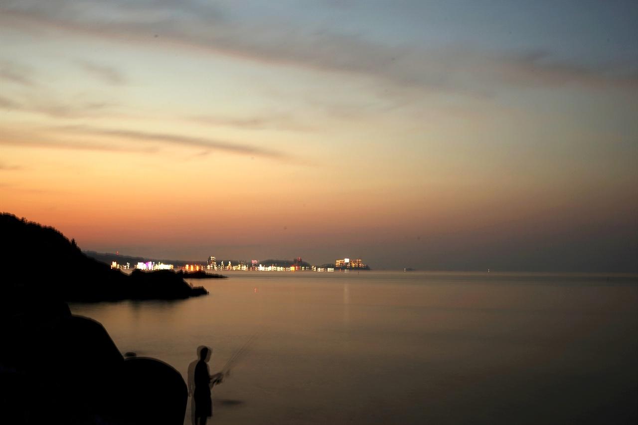 낙산 해변 풍경