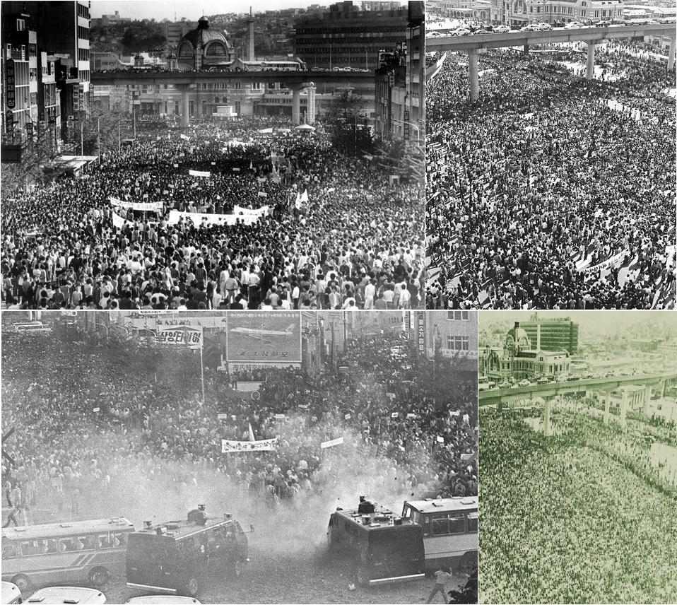 1980년 5월 15일 대학생들이 계엄해제를 외치며 각 학교마다 교문을 뚫고 서울역으로 집결했다. 총집결한 그 날 '서울의 봄' 시위는 그 절정에 이르렀다.
