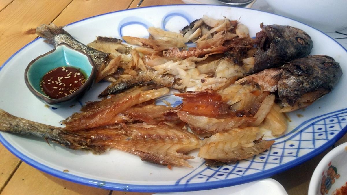 일식집 여수 봉초밥에서 선보인 보리굴비다.