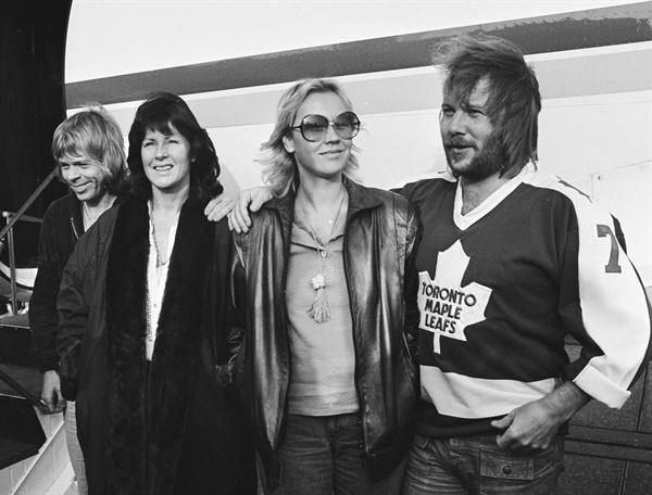 스웨덴을 대표하는 팝 그룹 ABBA. 1979년 10월 24일, 네덜란드 로테르담에서 촬영된 사진이다.